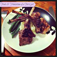 Michelle Bridges 12wbt Lamb Cutlets with Cauliflower mash and Green Beans 292 Cals