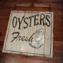 Vintage Oyster Sign diy