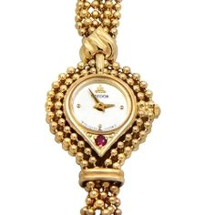 18ct Gold Credor Ladies Bracelet Watch