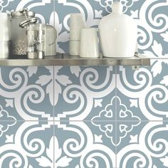 Dress Up Your Rental with Removable Wallpaper That Looks Like Tile — Faith's Daily Find 10.07.15