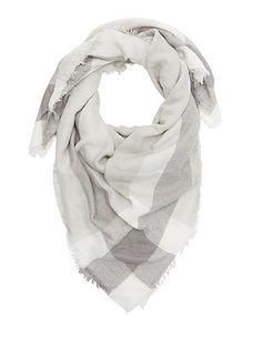 Plaid-Bordered Blanket Scarf: Charlotte Russe