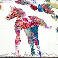 MarveLes Art Studios: student collage works ~
