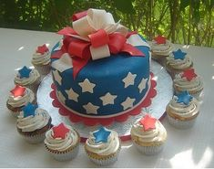 cute cake and cupcakes