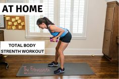 This is an at-home total body weights workout routine that you can do anywhere with a pair of dumbbells. Get in cardio fitness and strength in 30 minutes! Ab Workout At Home, At Home Workouts, Body Weight, Weight Loss, Lose Thigh Fat, Hiit Program, Workout Routines For Women, Dumbbell Workout, Glute Exercises