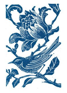 Bird Lino Cut Prints on Behance