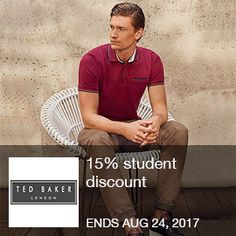 Ted Baker - 15% STUDENT DISCOUNT. Ends 08/24/2035  Brought to you by http://www.imin.com and http://www.imin.com/store coupons/ted-baker