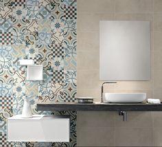 carrelage de salle de bain motifs originaux en tant que décoration