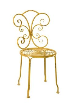 Azalia Yellow Iron Side Chair