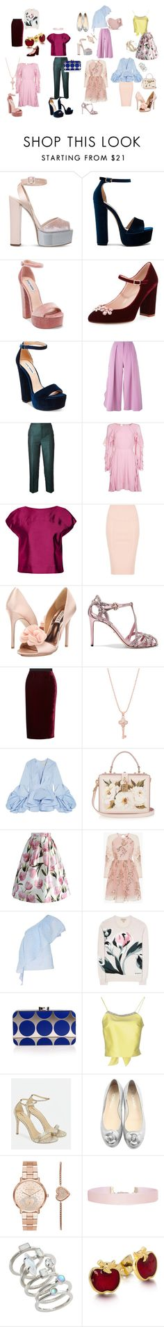 """Наивный Романтизм Kate"" by explorer-14250647065 on Polyvore featuring мода, Giuseppe Zanotti, Steve Madden, Kate Spade, Roksanda, Le Ciel Bleu, Topshop, Raoul, Kendall + Kylie и Badgley Mischka"