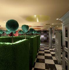 Croquette maze Alice in Wonderland restaurant Shinjuku Tokyo Japan JaPlanning