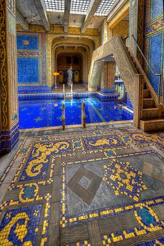 Roman Pool Diving Platform, Hearst Castle,San Simeon, California