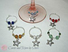 Wine Glass Charms - Stars $16.99