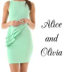 "Spotted while shopping on Poshmark: ""Alice and Olivia 'Spelling' Side Peplum Dress""! #poshmark #fashion #shopping #style #Alice + Olivia #Dresses & Skirts"