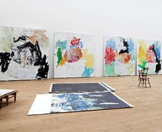 GEORG BASELITZ's studio, 2013 Photo by Martin Müller