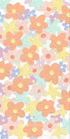 Hippie Wallpaper, Cute Pastel Wallpaper, Soft Wallpaper, Cute Patterns Wallpaper, Iphone Background Wallpaper, Aesthetic Pastel Wallpaper, Kawaii Wallpaper, Flower Wallpaper, Aesthetic Wallpapers