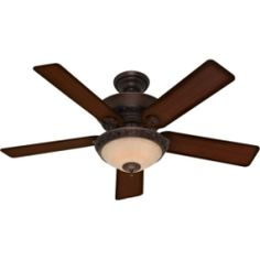 Hunter Italian Countryside 52-inch Ceiling Fan with Cocoa Finish and Five Aged Barnwood/ Cherried Walnut Blades | Overstock™ Shopping - Great Deals on Hunter Fan Ceiling Fans