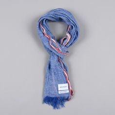 Norse Projects Salvar Stripe Scarf - Marine