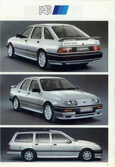 Optional RS packs available for the Ford Sierra Ford Sierra, Ford Rs, Car Ford, Retro Cars, Vintage Cars, Mid Size Car, Old Fords, Ford Escort, Henry Ford