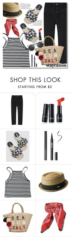 """""""Rest Up: Staycation"""" by paculi ❤ liked on Polyvore featuring kangol, Sundry, Topshop and staycation"""