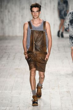 Leather Overalls / Summer Definitely