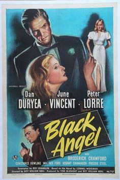 1946 Black Angel one sheet Dan Duryea Peter Lorre