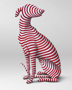 It's a kind of a dog--a constructed one. The red stripes on the dog of today's pin extended to whole animal.