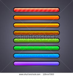 progress bar for games assets vector