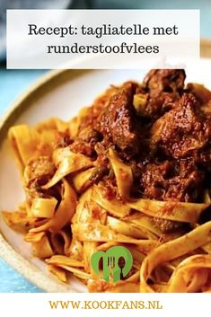 Recept: tagliatelle met runderstoofvlees Healthy Slow Cooker, Slow Cooker Recipes, Cooking Recipes, Pasta Recipes, Snack Recipes, Healthy Recipes, Buffet, Everyday Food, Food For Thought