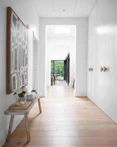 aesthetic Such a free flowing, light filled space with our White Smoked floorboards to com. Such a free flowing, light filled space with our White Smoked floorboards to compliment the soft aesthetic of the house. Home Design, Royal Oak Floors, Hallway Cupboards, Interior Styling, Interior Design, Entrance Design, House Entrance, Beautiful Houses Interior, Entry Hallway