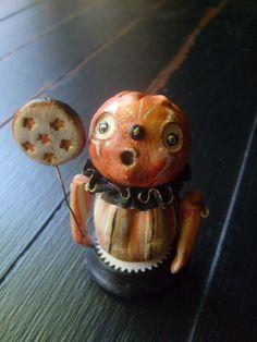 Halloween Primitive Jointed Folk Art Doll by valeriotedesign, $50.00