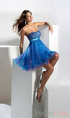 Purple Baby Doll Dress by Hannah S 27561 at PromGirl.com