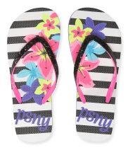 Kids' Floral Stripe Flip-Flops PS From Aéropostale