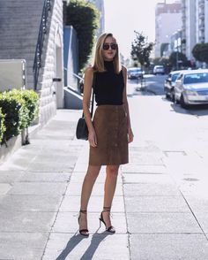 You'll Find a Million Ways to Style This Simple Skirt This Fall