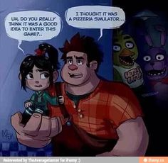 Best crossover ever! Wreck it Ralph and five nights at Freddy's!!