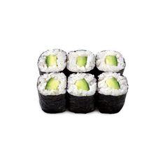 Доставка суши и блюд японской кухни. - Ролл с огурцом. ❤ liked on Polyvore