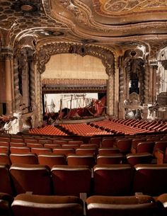 Abandoned Theater in Brooklyn. The link attached to this pin pictures 75 different abandoned theaters across the US, all beautiful in their own right.