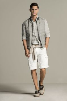 Brunello Cucinelli - Spring 2016 Menswear - Look 12 of 34 Mens Fashion Casual Shoes, Mens Fashion Suits, Men Casual, Casual Menswear, Male Fashion Trends, Athleisure, Sweater And Shorts, Brunello Cucinelli, Vogue Paris
