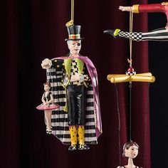 The Nutcracker Ornament - Drosselmeyer: If only Tchaikovsky had a costume designer as fanciful as MacKenzie-Childs. Our Nutcracker Ornament Collection breathes new life into the beloved classic by dressing Clara and company in our signature elements from the Soldier's thistle chapeau to the Mouse King's Courtly Check® ascot. This dream of a collection makes the perfect gift for a fan. Hang one from each chair for a holiday fete worth dancing about.