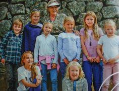 prinses Beatrix met haar kleinkinderen in Tavernelle 2014