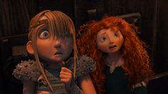 Merida and Astrid. If they had met, they would be the best of friends. XD