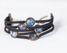 Galaxy Charm Wrap Bracelet - Adjustable on Etsy, $16.00