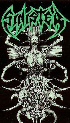 Sinister- classic death metal illustration