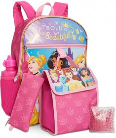 Bioworld Little & Big Girls Disney Princesses Backpack & Lunch Kit Set Disney Princess Backpack, Minnie Mouse Backpack, Kids Outfits Girls, Toys For Girls, Kid Outfits, Princesa Elizabeth, Nurse Bag, Disney Colors, Cute School Supplies