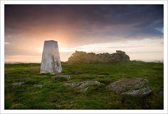 Trig Point, Traprain Law, East Lothian, Scotland