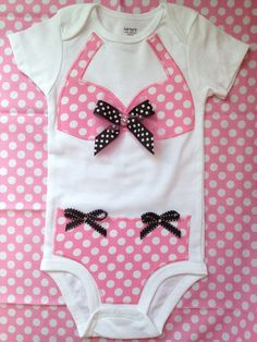 Bikini Onesie: appliqued, then topstitched. Too cute!