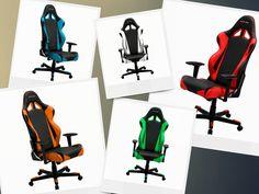 DXRacer RE0NE Ergonomic Office Chair Racing Bucket Seat Gaming Chair-Green