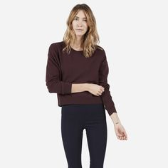 Everlane | The Cashmere Cropped Crew