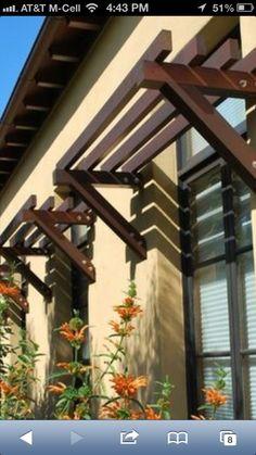 46 New Ideas Backyard Pergola Ideas Kitchen Windows Exterior Paint, Exterior Design, Bahama Shutters, Window Canopy, Room Window, Exterior Remodel, Le Far West, Pergola Shade, House Front