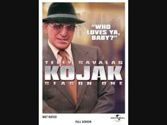 KOJAK (1973-1978, CBS, USA; theme by Billy Goldenberg). Telly Savalas as Kojak was the kind of old-school tough guy who could get away with being a badass while eating candy on detective duty. This is a big-scaled theme with lots of hubbub, though not with an especially memorable melodic hook; it's quite effective in its pounding transitions. I've linked to a nice quality extended version to get the full effect and enjoyment. (KevinR@Ky)