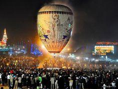 Hot Air Balloon Festival in Taunggyi, Burma. My moms hometown.